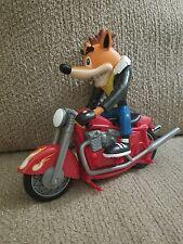 1999 PLAYING MANTIS CRASH BANDICOOT GREASER FIGURE W/ MOTORCYCLE