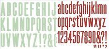 We R, Lifestyle Crafts QuicKutz 4x4 Alphabet Die Set HIGH RISE/LOLLIPOP ~ Combo