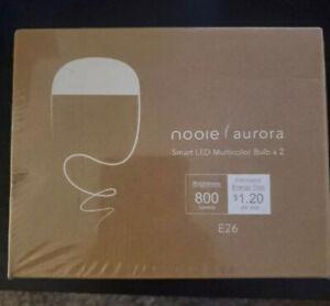 Nooie Aurora 10W Smart LED Wi-Fi E26 Multi-Color Light Bulb, 2-Pack #LB126-2
