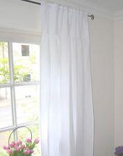 Gardine Vorhang Set Weiß 100 x 240 Shabby Landhaus Franske Brocante Stickerei