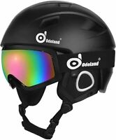 Odoland Snow Ski Helmet and Goggles Set for Kids  Large