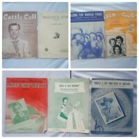 Vintage Sheet Music 1940s Assorted Lot of 7 Songs Song Books