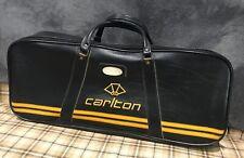 Stylish Black & Yellow Vintage 1970s CARLTON Badminton Racket Bag Sports Holdall