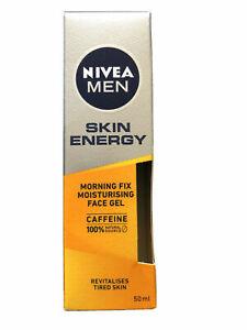 Nivea Men Active Skin Energy Morning Fix Face Gel Moisturiser 50ml,NEW UK