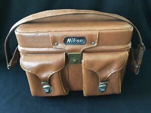Vintage NIKON brown leather camera case