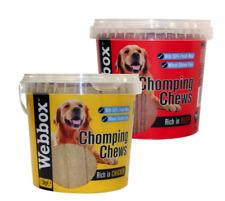 Webbox Meaty Chomping Chews 1.5kg  tub in Chicken or Beef, Dog Treats