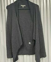 Neiman Marcus Womens Gray Sleeveless Open Cashmere Cardigan Sweater Size Medium