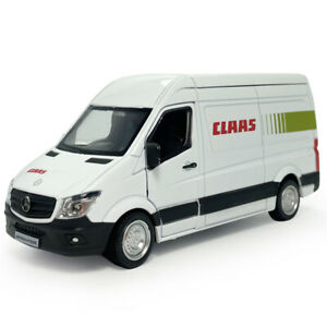 1:36 Sprinter Van Cargo Model Car Diecast Kids Toy Vehicle Gift Pull Back White