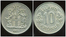 ISLANDE 10 kronur 1971