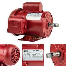 13 Hp Farm Duty Electric Motor 56 Frame 1735 Rpm Single Phase Tefc Weg New