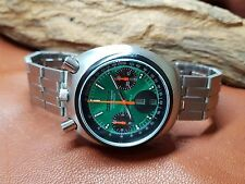 VERY RARE VINTAGE CITIZEN BULLHEAD CHRONOGRAP GREEN DIAL DAYDATE MAN'S WATCH