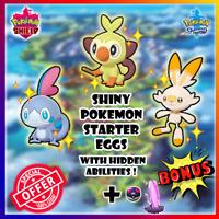 Shiny Galarian starter Pokemon eggs + Bonus Shiny Raid | Pokemon Sword & Shield