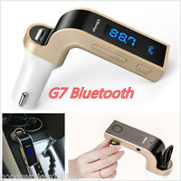 G7 Wireless Bluetooth Car LCD FM Transmitter Radio MP3 Player + Dual USB Charger