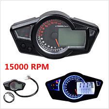 15000RPM Multi Function LCD Digital Odometer Motorcycle Speedometer Tachometer