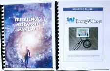 Energy Wellness Rife Machine Frequency Generator Operating and Research Manuals