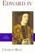 Edward IV (Yale Inglés Monarcas SERIE) by CHARLES ROSS Libro De Bolsillo 9780