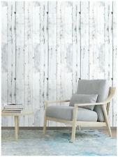 3D Peel and Stick Wood Plank Wallpaper Shiplap Light Grey/White Vinyl Paper