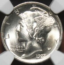 #~☆MS-67FB!☆~ 1923 Mercury Dime NGC the NICEST one on Ebay!!  FULL BANDS WOW