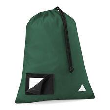 Quadra Junior Shoesac Drawstring Bag With Name Card Holder- 8 Colours (QD458)