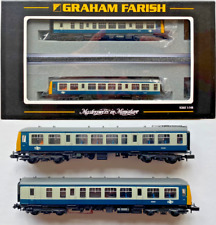 GRAHAM FARISH N GAUGE - 371-876 - CLASS 108 TWO CAR DMU BR BLUE GREY - BOXED