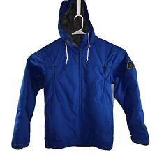 Bonfire Snowboarding Jacket Mens Medium  Bright Blue Full Zip Hoody Pockets
