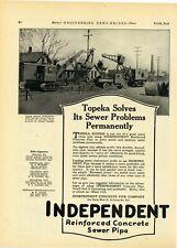 1927 Independent Concrete Pipe Ad: Stimson Constr Northwest - Topeka, Kansas Pic