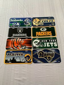 NFL Assorted Teams Plastic License Plate Wincraft New