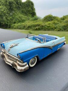 """Vintage Haji Ford Sunliner Japan Tin Toy Car 11"""""""