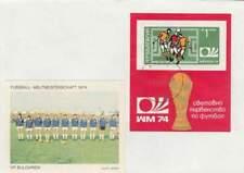 Voetbal envelop: WK Duitsland 1974 / Elftal Bulgarije (voet045)