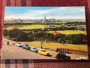 SOUTHPORT PLEASURELAND & CYCLONE ROLLER COASTER POST CARD 1969 amusement Park