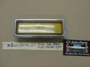 76 Buick Electra 225 LEFT DRIVER SIDE FRONT FENDER MARKER LIGHT LENS #5967439