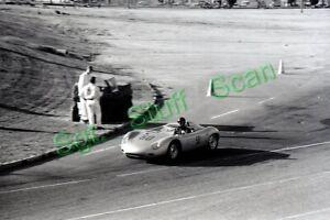 1961 CSCC Sports Car racing Photo negative Ken Miles Porsche Pomona, CA.