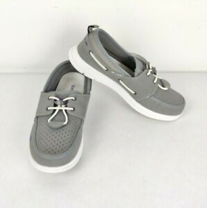 Speedo Port Women's Shoes Boat Water Casual Shoes Slip On Loafers Gray Size 7