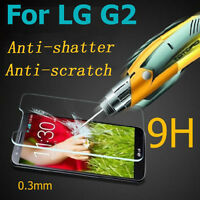 9H NEW Anti-scratch Tempered Glass Screen Protector Guard Film Cover for LGG2/G3