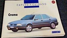 MANUAL DE EMPLEO Y CUIDADO  FIAT CROMA 1993  IDIOMA ESPAÑOL