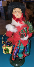 Byers Choice Carolers Christmas Victoria Girl 25th Anniversary 2003 w Tag