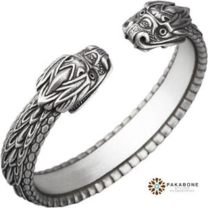 VIKING ARM RING WITH DRAGON'S HEAD NORSE BRACELET VIKING JEWELRY NORDIC BAND