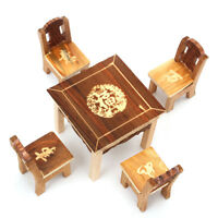 Wooden Miniature Dolls House Furniture Set  Home Kitchen Room Children Play Toys