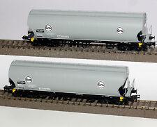 Rivarossi H0 HR6245 Set mit 2 Vierachsigen Silowagen Uapps der EVA / VTG Neu