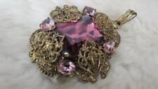 Glass Pendant/Locket Vintage Costume Jewellery (Unknown Period)