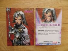 2008 WOMEN OF MARVEL LILANDRA NERAMANI CARD SIGNED BY JIM CHEUNG, WITH POA