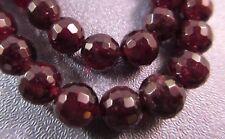 Dark Garnet Faceted Round 10mm Beads 37pcs