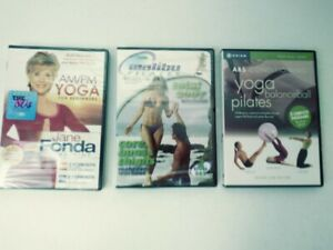 3 Workout DVDs Malibu Pilates 2 DVD set New Sealed : Yoga Balanceball Pilates :