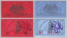 Mexique/Mexico 5+10 centavos 1910-1920 F-xf