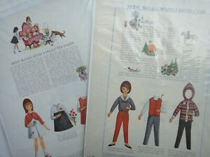 LOT 1964/65 vintage 2 BETSY McCALL PAPER DOLL PAGES