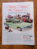 1957 Pontiac Safari Sation Wagon Ad 1957 Palm Beach Fashion Suits Ad Wagon
