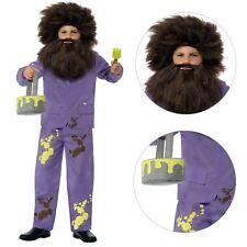Kids Mr Twit Costume Licensed Roald Dahl Fancy Dress Wig Childrens Smiffys 42853 M - Medium