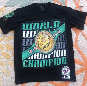 WBC WORLD BOXING 50th Anniversary Edition Tshirt Champion Mens S Ali Lewis Boxer