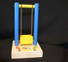 VINTAGE FISHER PRICE LITTLE PEOPLE #932 AMUSEMENT PARK YELLOW SWING