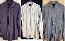 Lot Of 3 XL Mix Johnston & Murphy / Scott Barber Tailored Fit Short Point Collar